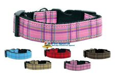 Premium Plaid Nylon Dog or Puppy Collar Made In The USA