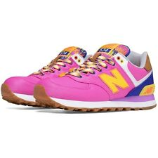 New Balance Womens WL574EXB B Purple Pink Yellow Blue Running Shoes WL574 574 DS