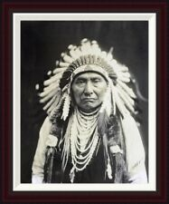 Chief Joseph, Nez Perce, 1903 by Edward S. Curtis Framed Photographic Print
