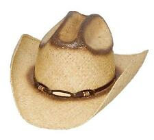 New Rugged Straw Rodeo Hat with Bone Band and Elastic Band Tan Lin-12
