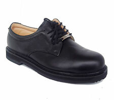 Vegace 9007 Mens Black Leather STEEL TOE Slip Resistant Work Shoe