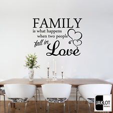 FAMILY LOVE WALL QUOTE - Vinyl Wall Art Sticker, Transfer, Decal