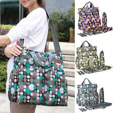 6Pc/Set Dots Multifunctional Mummy Tote Handbag Baby Diaper Changing Nappies Bag