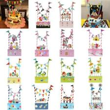 Baby Shower Birthday Party Favors Decor Cake Topper Cupcake Bunting Banner Flag