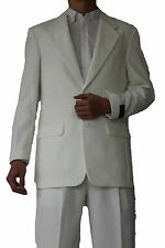 Men's Classic Suit 2 button Suit single breasted(comes with pants) Cream 702