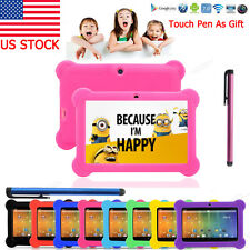 2017 Quad Core 7'' Tablet 8GB HD Android 4.4 Camera WiFi Bundle for Kid Gift Hot