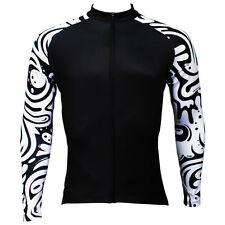 Zebra Men's Cycling Jersey Tops Long Sleeve Winter Cycling Jersey Bike Shirts
