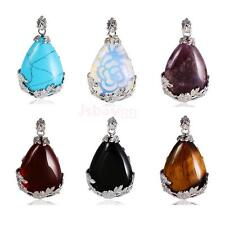 Water Drop Shape Multi-color Stone Necklace Pendant Jewelry Making Finding