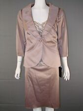 BNWT FRANK USHER MOTHER OF THE BRIDE JACKET, SILK TOP & SKIRT SUIT SIZES 14 & 16