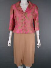 NEW WITH TAGS TOM BOWKER SILK MOTHER OF THE BRIDE DRESS & JACKET SUIT SIZE 10-16