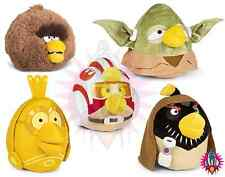"""NEW ANGRY BIRDS STAR WARS COLLECTION LARGE 8"""" OBI YODA CHEWBACCA PLUSH SOFT TOY"""