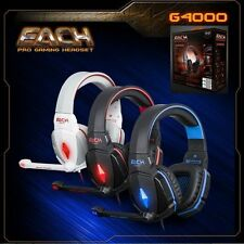 Gaming Headset Surround Stereo Headband Headphone LED Mic 3.5 USB for PC Laptop