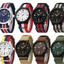 New Curren Fashion Men's Nylon band Sport Analog Quartz Wrist Watches Casual