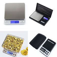 Electronic Digital Pocket Scale Balance Weight Jewelry Food Gold Postal Kitchen