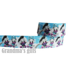"1""25mm Cartoon Duck Printed grosgrain ribbon 5/50/100 yards hairbow Wholesale"