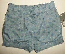 Baby Girls Blue Shorts with Butterflies and spots detail. size 9-12 months