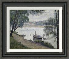 'Gray Weather, Grande Jatte' by Georges Seurat Framed Painting Print