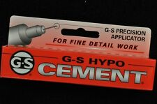 USA G-S HYPO CEMENT GLUE FOR WATCH CRYSTALS AND HOBBIES PRECISION APPLICATOR!!