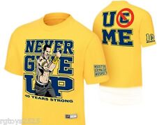 WWE John Cena Never Give Up t-Shirt Childs size 4-5 6-7 8 10-12 14-16 18-20 New