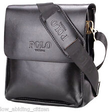 Polo Bag Leather Mens Fashion Business Briefcase Messenger Crossbody Shoulder