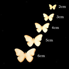 50x UNFINISHED WOODEN WOOD BUTTERFLY DECOR IDEAL CRAFT CARD MAKING SCRAPBOOKING