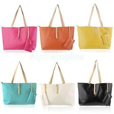 Women's Girl's PU Leather Tote Ladies Shoulder Bag Handbag Satchel Messenger Bag