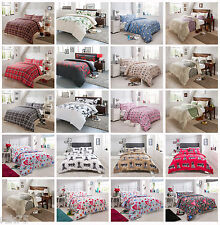 Duvet Cover Set & Pillow Cases, Olivia Rocco Reversible Bed Linen Quilt Sets