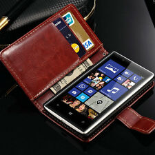 Luxury Case For Nokia Lumia 520 Glossy PU Leather Flip Card Wallet Stand Cover