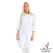 Lab Coat Medical White Womens Classic Stylish Nurse Scrubs Doctor Gown Jacket