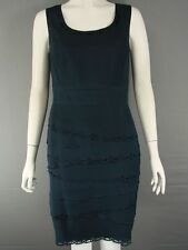 BNWT MINUET PETITE SLEEVELESS TIERED NAVY BLUE DRESS SIZE10/16/18/20 - RRP £110