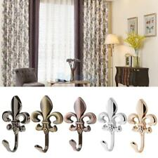 2Pcs Wall Door Hooks Holder Hanger For Clothes Coat Hat Bag Towel Window Curtain