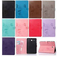 For iPad/Samsung Tablet PU Leather Flip Wallet Butterfly Floral Cover Stand Case