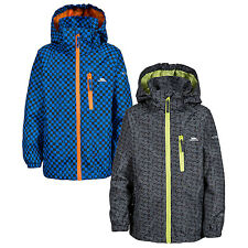 Trespass Eli Boys Waterproof Jacket Windproof Rain Coat