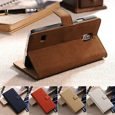 Soft Leather Flip Card Slot Wallet Stand Case Cover For Samsung Galaxy S5 I9600