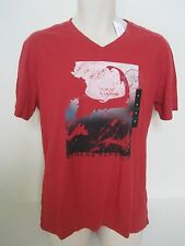 BANANA REPUBLIC Men's Red Map Graphic T-shirt Size XL NWT