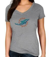 "Miami Dolphins Women's Majestic NFL ""Diamond Dreams"" Short Sleeve T-shirt"