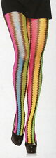 Leg Avenue 9941 Tights ZigZag Net Rainbow One Size Regular Neon Multi-Color