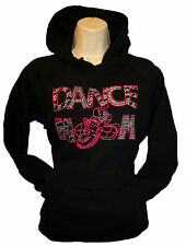 Dance Mom Rhinestone Hoodie Pullover Black Sweats Sweatshirt free shipping