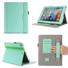 SAVFY Folio PU Leather Wallet Smart Sleep / Wake Stand Case Cover For Apple iPad