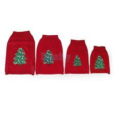 Pet Dog Puppy Christmas Xmas Tree Knit Sweater Apparel Clothing  Knitwear XS-L
