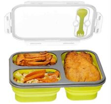 Compartment Food Container Lid, Bento Lunch Box, Leak Proof, Microwave Safe