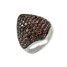 2CTW PAVE DOME STYLE BROWN CZ CUBIC ZIRCONIA RING BRIDAL