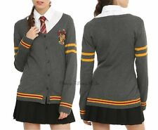 NEW Harry Potter Gryffindor House Cardigan Sweater Juniors L-XL Cosplay School