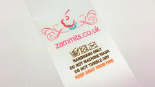 Full Colour Bespoke Personalised Clothing Garment Labels Sew In Crafts