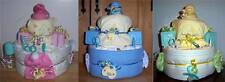 Baby Shower 2 Tier Duck Diaper Cake, Pink, Blue, or Neutral