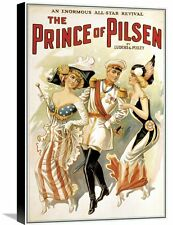 'The Prince of Pilsen, 1900' Vintage Advertisement on Wrapped Canvas