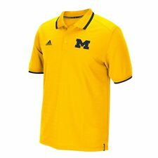Michigan Wolverines ADIDAS Climalite Coordinator Performance Polo Gold Shirt Men