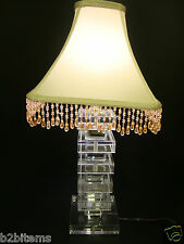 Lucite Acrylic Table Night Lamp Unique New Style Handmade