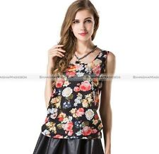 New Women Summer Loose Casual Chiffon Sleeveless Vest Shirt Blouse Ladies Tops