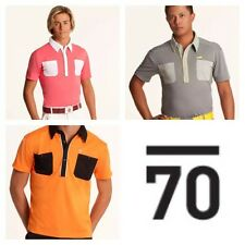 New TOUR SUB70 SubSeventy Mens PolarDry® Performance Golf Polo Shirt T 2 pocket